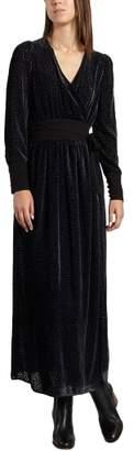 Tara Jarmon Velour Maxi Dress