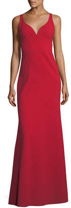 Jill Stuart Sleeveless Crepe Faux Sweetheart Gown
