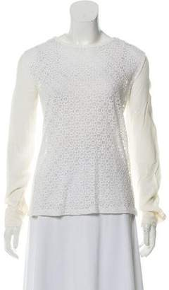 Equipment Long Sleeve Lace Top