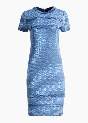 St. John Engineered Coastal Texture Tweed Knit Dress