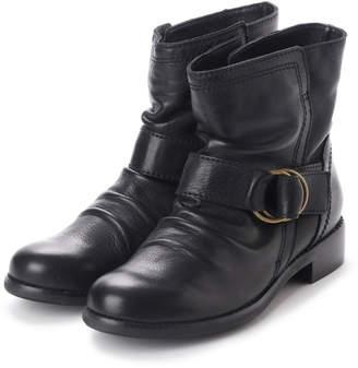 All Black オールブラック リングバックルブーツ