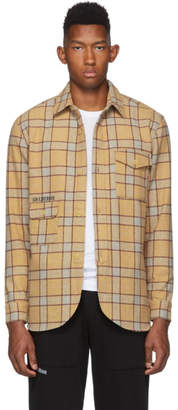 Han Kjobenhavn Tan Plaid Long Sleeve Flannel Shirt