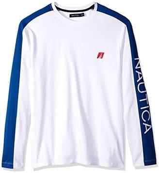Nautica Men's Long Sleeve Logo T-Shirt