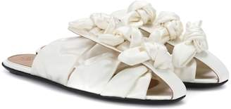 The Row Capri Bow satin sandals