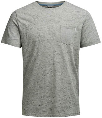 Jack and Jones Core Men's Inject T-Shirt - Grey Marl