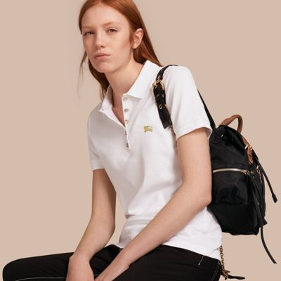 Burberry  Burberry Stretch Cotton Piqué Polo Shirt