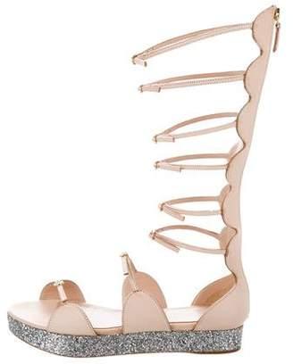 Giambattista Valli Glitter Gladiator Sandals