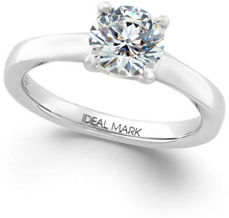 Idealmark Certified Diamond Solitaire Engagement Ring (1-1/2 ct. t.w.) in 18k Gold or Platinum