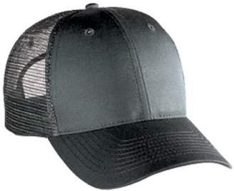 a4198de8ac252 Otto Caps OTTO Cotton Blend Twill 6 Panel Low Profile Mesh Back Trucker Hat