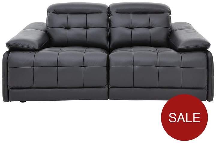 Ellis Premium Leather 2-Seater Power Recliner Sofa