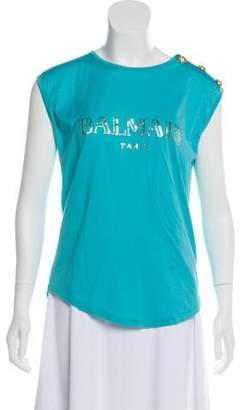 Balmain Sleeveless Printed Top