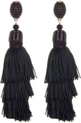 Eye Candy Los Angeles Beaded & Layered Fringe Tassel Earrings