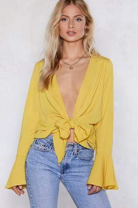 Nasty Gal Knot Bothered Tie Blouse