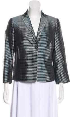 Akris Punto Silk-Blend Striped Blazer