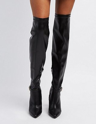 Qupid Pointed Toe Over-The-Knee Boots $45.99 thestylecure.com