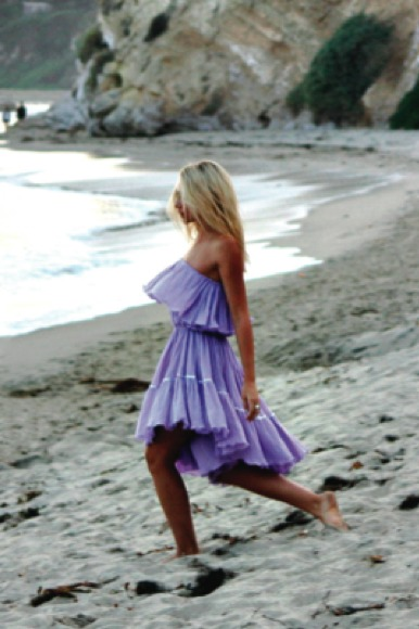 Jens Pirate Booty Goddess Long Dress in Lilac