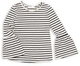 Little Girl's & Girl's Claire Striped Bell-Sleeve Top