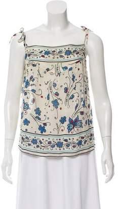 Anna Sui Sleeveless Printed Top