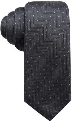 Alfani Men Chevron Dot Slim Silk Tie