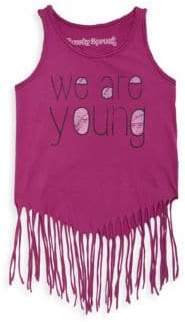 Rowdy Sprout Toddler, Little Girl's& Girl's We Are Young Hippie Tank Top