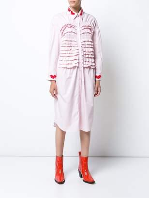 Simone Rocha Beaded smocked shirt dress