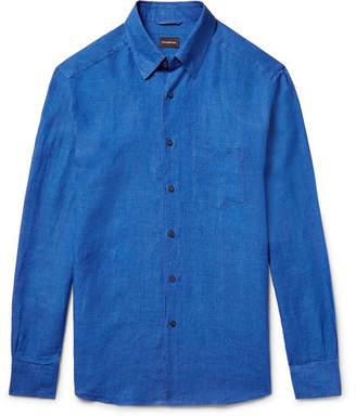 Ermenegildo Zegna Slim-Fit Linen Shirt