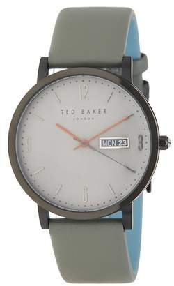 Ted Baker Men's Grant Leather Strap Watch, 40mm