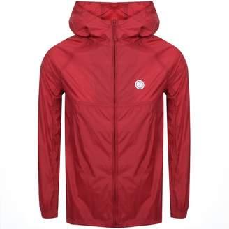 Pretty Green Lightweight Hooded Jacket Red