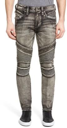 Men's Rock Revival Skinny Fit Moto Jeans $195 thestylecure.com