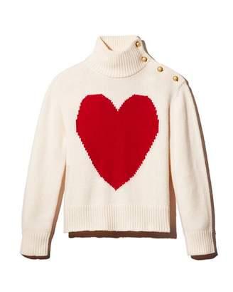 Kate Spade Heart Print Turtleneck Sweater