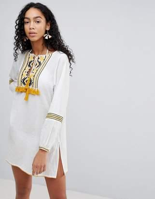 Liquorish Embroidered Beach Dress