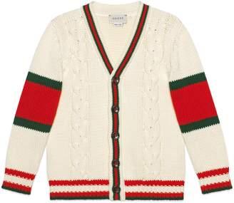 Gucci Children's cable knit cotton cardigan