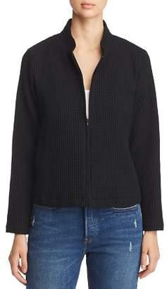 Eileen Fisher Waffle-Knit Zip-Up Jacket