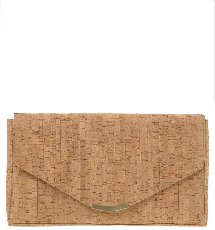 ASOS Cork Envelope Clutch With Detachable Shoulder Strap