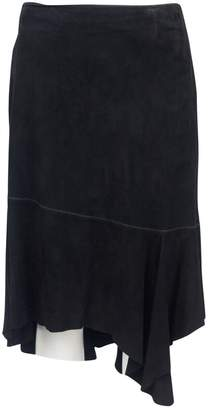 Christian Lacroix Black Suede Skirts