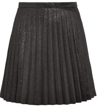 J.Crew Sweetbriar Pleated Cotton-blend Lamé Mini Skirt - Black