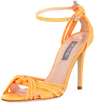 Sarah Jessica Parker Willow Suede Swirled Sandal