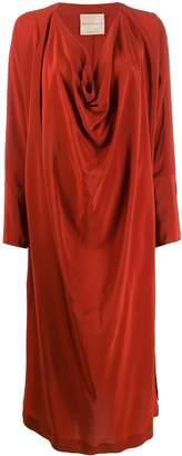 Cavallini Erika long-sleeve draped dress