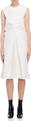 Jil Sander Cinched Sleeveless Midi Dress