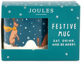 Joules Festive Single Porcelain Mug - Hare