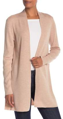 Eileen Fisher Straight Long Merino Wool Cardigan