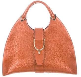 f2108f30021 Gucci Ostrich Stirrup Top Handle Bag
