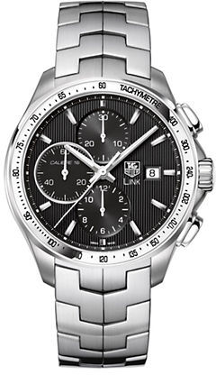 Tag Heuer Men's Link Black Dial Chronograph Watch