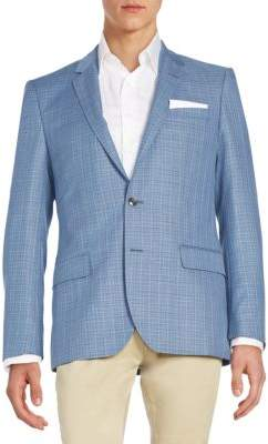 Hugo Boss Hutsons Textured Check Virgin Wool Sportcoat