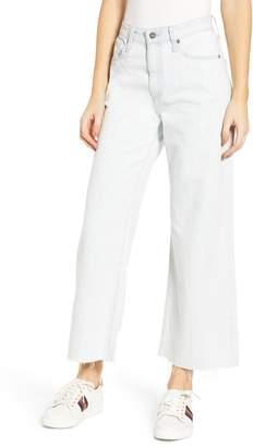 AG Jeans Etta High Waist Raw Hem Wide Leg Jeans