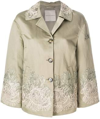 Ermanno Scervino embroidered buttoned jacket