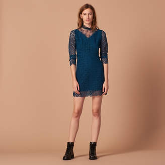 Sandro Guipure and lace dress