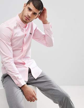 Paul Smith Tailored Fit Zebra Logo Shirt In Pink