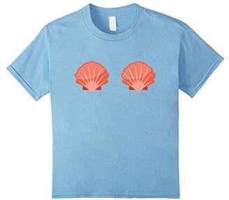 Mermaid Bra Shirt - Mermaid Sea Shell Bra Shirt