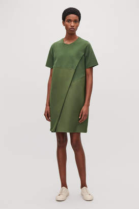 Cos POPLIN-PANELLED JERSEY DRESS